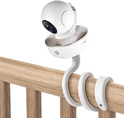 HOLACA - Supporto universale per monitor Arlo/Motorola Baby Monitor/Nannio Monitor/HelloBaby, versatile supporto per viti da 1/4 senza attrezzi o danni alla parete (bianco)