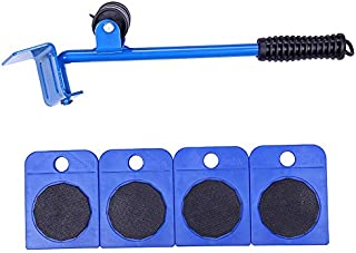 Heavy Object Porter Household Multifunctional Manual Combination Hardware Tool Set Furniture Mover Five-piece Artifact (blue)
