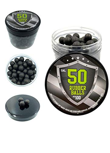 SSR 100 x Rubber Balls Paintballs 50 .Cal Bolas de Pintura Pelotas de Goma la Pistola Revolver 50 Calibre RAM