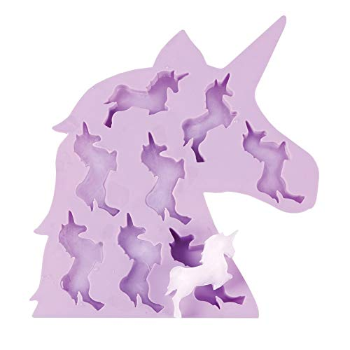 WHAT ON EARTH - Unicorn Ice Cube Tray - Soft Silicone - 9.25' x 8.25'