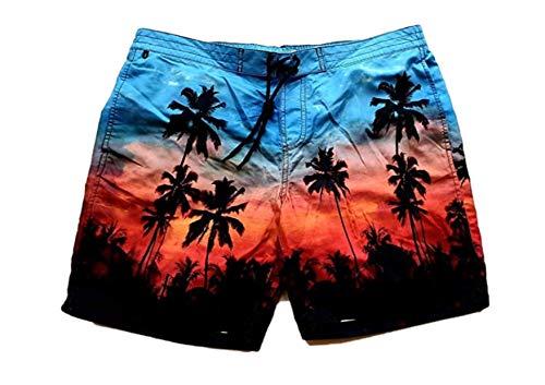 Tropische Palm Tree Print Mens zwembroek groot