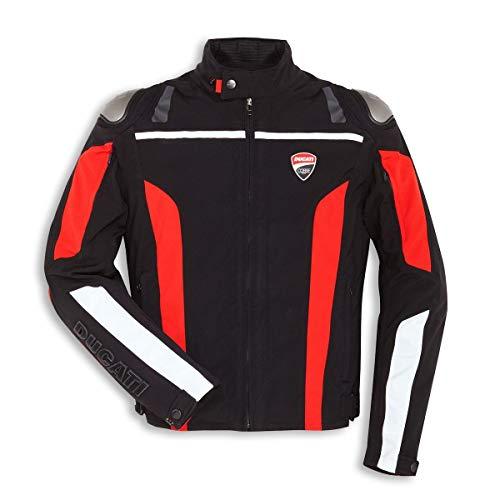 Ducati Corse Tex C4 Giacca da moto in tessuto Touren Sport giacca nero rosso 50