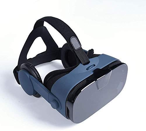Casque HLKJ VR, 3D VR Virtual Reality Lunettes VR Boîte Lunettes réglable Système de Protection des Yeux Compatible avec 4.0-6.3 Pouces Smartphones for Les Films et Les Jeux