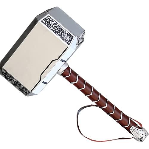 damdos Halloween Cosplay Prop 44cm 1:1 Thor\'s Hammer Endgame Odinson Waffe Hammer Captain Cosplay Zubehör Krieger, Donnergott, Fasching, Wikinger LARP