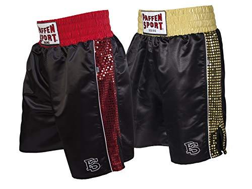 Paffen Sport PRO Glory Profi-Boxerhose – schwarz/rot – Größe: S