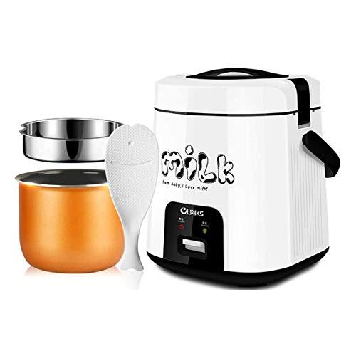 GXLO Food Steamer Technologie avancée Mini 1.8L Cuisinière à Riz pour Cuisine dortoir Cuisine Cuisson Vapeur Vapeur pour Soupe Porridge Riz cuit à la Vapeur Digital et Portable,Blanc