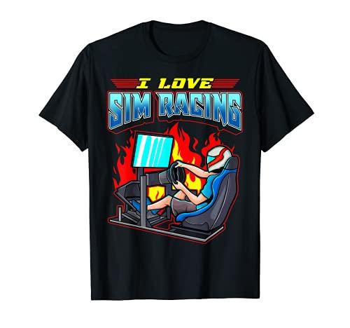 I Love Sim Racing – propriétaires de bas de ligne de simulateur de conduite et de course T-Shirt