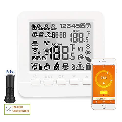 Mallb Smart termostato WiFi per riscaldamento a pavimento elettrico eco controllo temperatura ambiente Alexa Voice Control 100-230V 16A