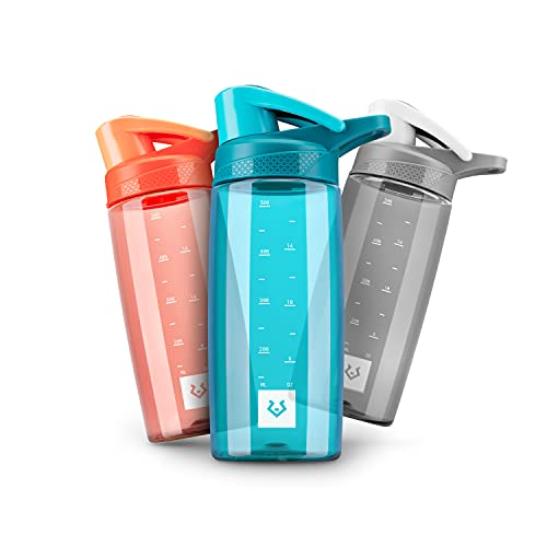 Alphatrail Botella Agua Tritan Dirk 550ml Azul 100% Prueba de fugas I sin BPA & Ecológicamente I Seguro Lavavajillas I Abertura para beber funcional para una óptima hidratación durante el deporte
