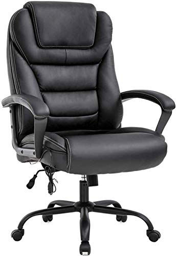 LCH Big & Tall Office Chair 500lbs High Back Wide Seat Ergonomic Computer Chairs Executive Chair with Armrest Home Office Desk Chair Heavy People