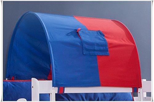 TONY tunnel tunnelboog klein blauw rood voor kinderbedden stapelbedden NIEUW