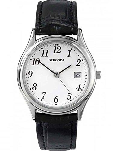 Sekonda Reloj para Hombre de con Correa en Cuero 3473.27, Blanco/Negro