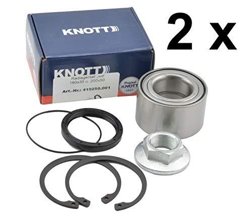 FKAnhängerteile 2 x Knott - Radlager- Set - Wasserdicht - Nr. 410250.001 - Lager Ø64 / Ø 34 x 37mm