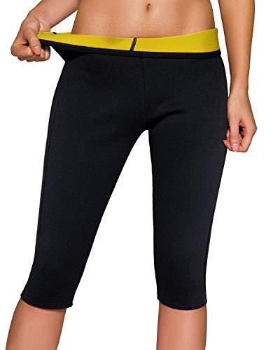 Martiount Pantalones Sauna para Mujer Pantalones de Neopreno Térmicos de Adelgazamiento Pantalon Sauna Reductora Adelgazar Push Up High Waist Deporte Yoga Running S