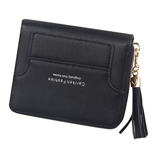 Quaan Frauen Kurze Stil Mode Mini quaste reißverschluss geldbörse kartenhalter Tasche