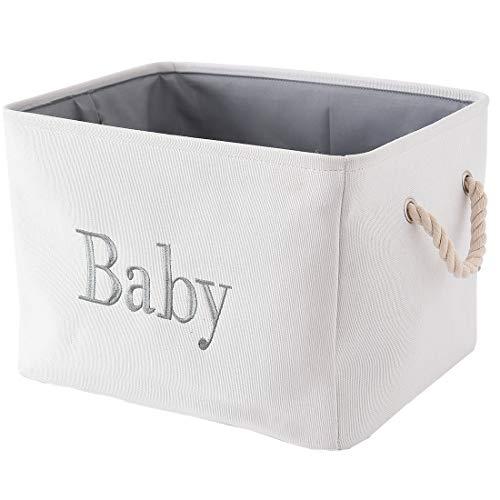 INough Panier de Rangement Bébé Boîte de Rangement Enfant Panier de Rangement Pliable Kallax Boxes Tissu Grand Panier Bébé pour Chambre d'enfant