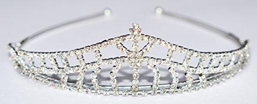 Utsunomiya® 1stück magnifique Serre-tête de grande qualité avec eau douce Couronne et strass cristal, Mariée Mariage Cérémonie Serre-tête épingles à cheveux Cheveux Bijoux cheveux spirales