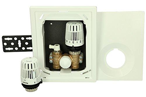 TA Heimeier UP-Einzelraumreg Multibox K-RT Lmit Thermostatventil und RTL, weiß, 9301-00.800