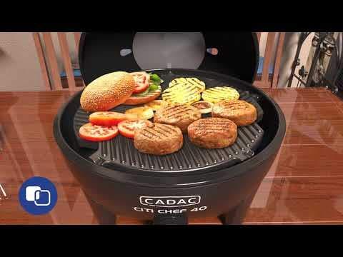 Cadac Citi Chef 40 Sky Blue Table Top Portable Gas Barbecue
