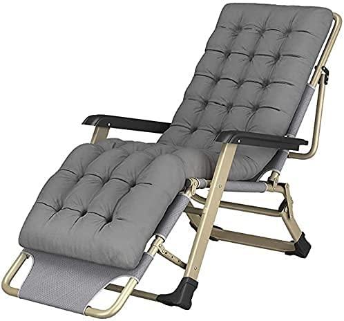 LTHDD, sedie pieghevoli, sedie a sdraio da terrazza, sedie a sdraio pieghevoli regolabili a 45°, per sedie da spiaggia da campeggio e piscina (colore : grigio, dimensioni: 54 x 131,5 x 68 cm