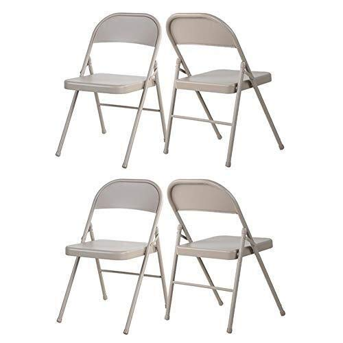 XYSQWZ Sets of 4 Folding Chair Desk Chairs Indoor Home Office Dining Portable Steel Frame Chair