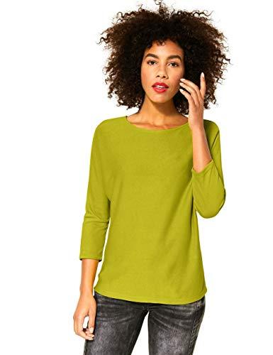 Street One Damen 315283 3/4 Fledermausärmel mit U-Boot Ausschnitt T-Shirt, Apple Green, 38