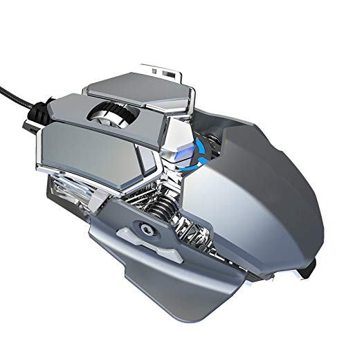 Juego Ratón con cable de luz colorida ajustable DIP múltiples teclas ratón