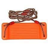 STOBOK Schaukelsitz-Set Hängende Baumschaukeln Verstellbare Kunststoff-Schaukelspielzeuge mit Seil Outdoor-Sportspielzeug Kindergeschenk Orange