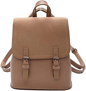 COOLBABY Women Backpacks Small School Bags Black Scrub Female Backpack,D,W24xD13xH27cm(Khaki)
