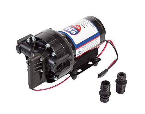 USA Adventure Gear ProGear 5500 High Performance Professional Grade Water Pump   Made in the USA   12 Volt DC   5.5 GPM   14 Foot Lift   Self-Priming   Potable Water Use   RV, Boat, Plumbing