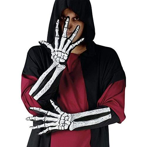 Skeleton Hand Gloves with Bone Sleeve
