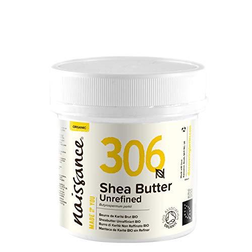 Naissance Beurre de Karité Brut BIO (n° 306) - 100g - 100% pur, non raffiné, naturel et certifié BIO - Malaxé à la main - végan - Approvisionnement éthique et durable au Ghana