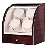 CHIYODA Watch Winder for 4 Watches + 3 Storage Position, Quad Automatic Watch