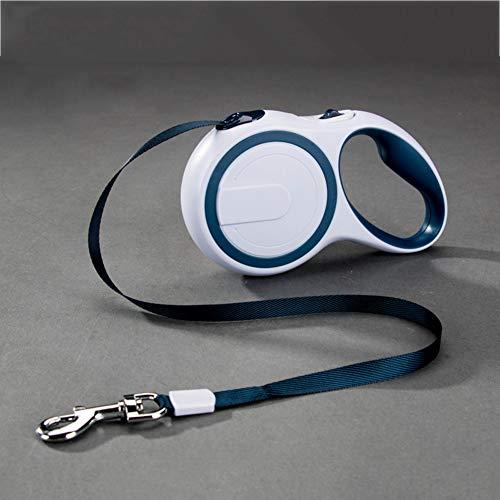 CSDY-Hundeleine, Einziehbar, 3 M / 5 M Lang, Ausziehbar, Für Spaziergänge,Laufen Etc. Einziehbare Leine Für Mittelgroße Und Große Hunde,Blau,S