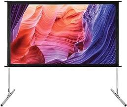 GPX PJS709 Indoor/Outdoor Projection Screen (70 Inch), Black
