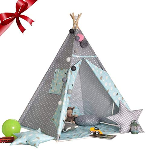 ZZXXB Children Play Tents, Game House for Indoor and Outdoor Fun Plays Judith (Color : Blue)