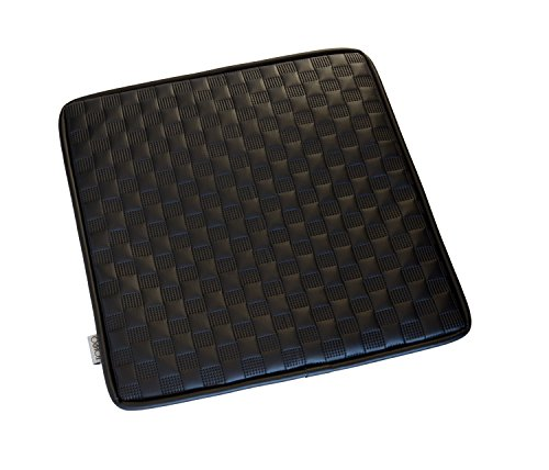 TOHPO ソニックレザーシートクッション 低反発チップウレタン仕様 45×45cm ブラック SOS-93703
