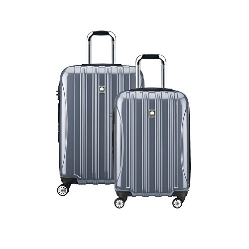 DELSEY Paris Helium Aero Hardside Expandable Luggage with Spinner Wheels, Titanium Silver, 2-Piece Set (21/25)