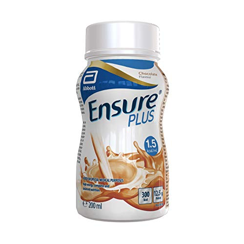 Ensure Plus milkshake style nutritional supplement drink, chocolate flavour, contains protein, vitamins and minerals 30 x 200ml