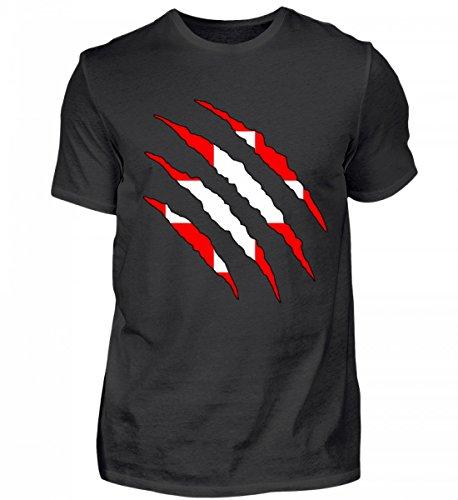 Hochwertiges Herren Shirt - Schweiz WM Fan Tshirt Schweizer Nationalmannschaft Shirt Trikot
