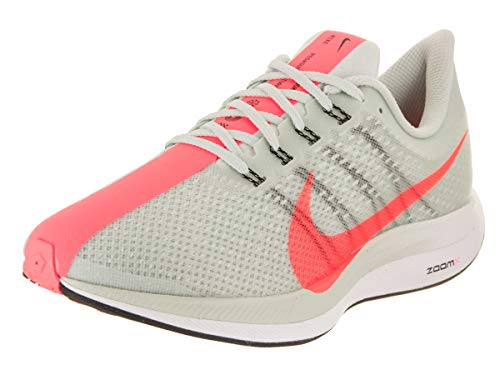 Nike Women's Zoom Pegasus 35 Turbo Running Shoes (7.5, Barely Grey/Hot Punch-Black)