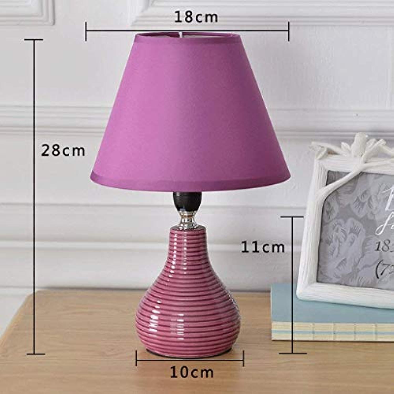 AAXCC Tischlampe im europischen Stil Tischlampe, Nachttisch Schlafzimmer Lampe kreative Keramik Nachtlicht, H28Cm  W18Cm