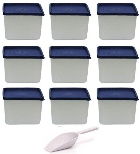 mikken Gefrierdosen, Kunststoff, weiß, 9er Set / 750 ml