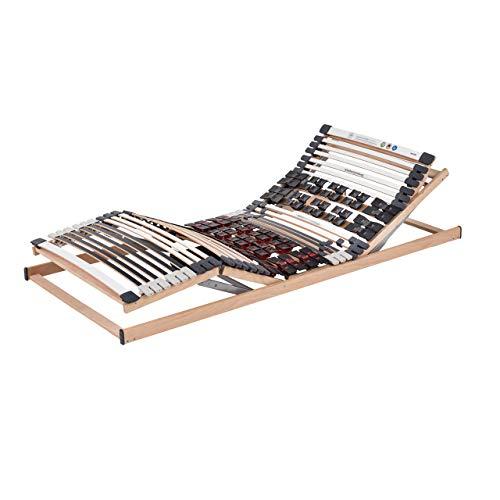 Ravensberger Matratzen Lattenrost Komfort (Duomed) de Luxe Elektrorahmen Lattenrahmen in verschiedenen Größen (140 x 200 cm, Buche Kabel-Fernbedienung)