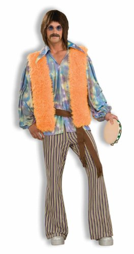 Men's 60's Groovy Singer Costume, Multi-colored, One Size
