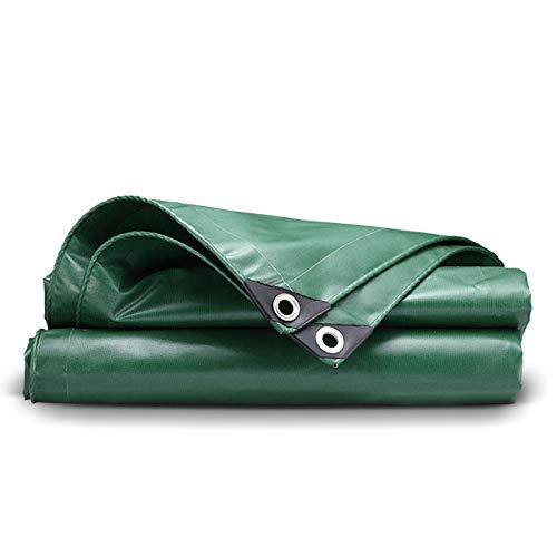Lona de Resistente Ojales Reforzados Lona alquitranada de PVC Gruesa Lonas Impermeable Tela Protector de Cubierta Acampar al Aire Libre
