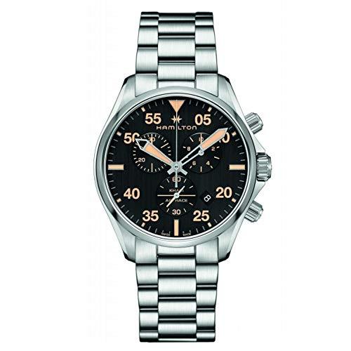 Hamilton Reloj de Hombre Cuarzo 44mm Correa y Caja de Acero H76722131