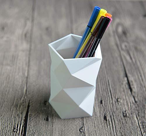 Zaocun Silicone Pen Pencil Holder Pen Container (White)