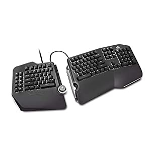 SPLIT KEYBOARD DESIGN - Helps ELIMINATE Wrist and Shoulder PAIN while you type. By keeping your hands and arms properly aligned, this ergo keyboard helps provide PAIN-FREE typing for 8+ hours day. BUILT IN-TENTING (& palm support) - Your hands stay C...