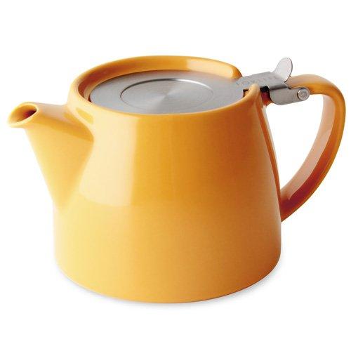 Tetera con infusor para té en hojas de Forlife, gris, 530ml/2 tazas, color mandarina